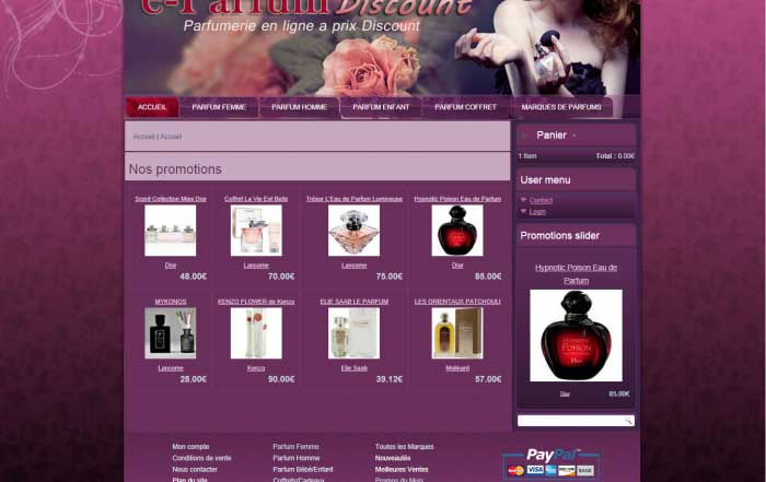 E-commerce Parfumerie